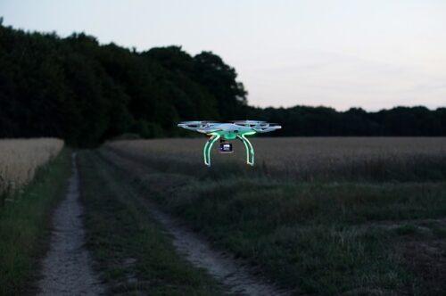Ściąganie drona z wysokości DrDrwal